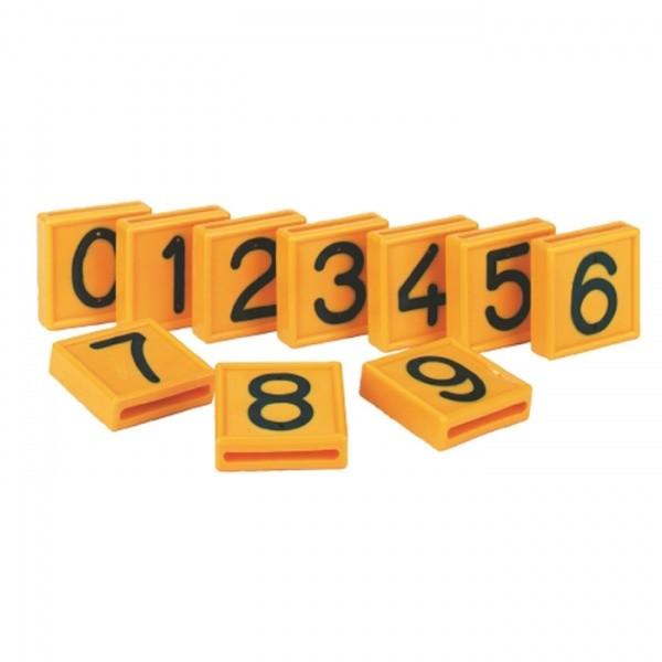 Номера на ошейник для крс, все номера от 0 до 9