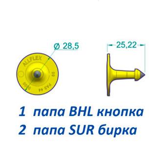 Бирка SUR+BHL для КРС
